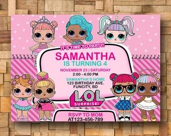 Lol Doll Invite Etsy