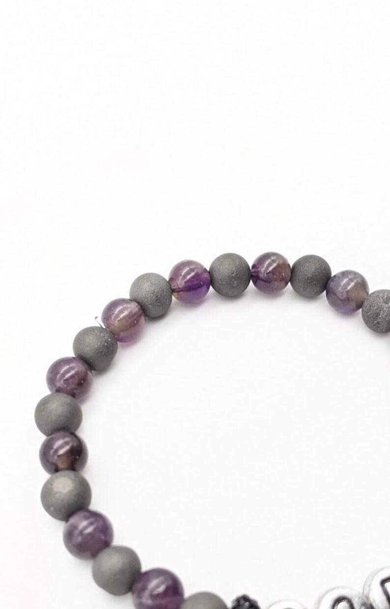 Agate and Amethyst /'Goddess/' Gemstone Bracelet