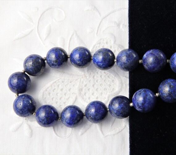 Lapis Lazuli Necklace, Blue Lapis Lazuli Bead Neck