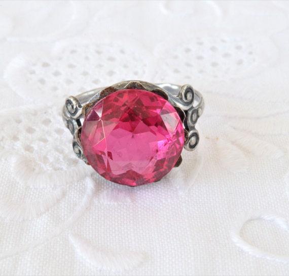 Soviet Vintage Ring, Red Ruby Ring, 875 Silver Ri… - image 5