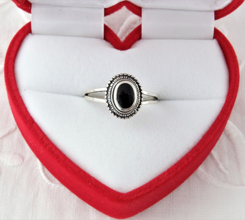 Silver Ring with Black Onyx Black Onyx Ring