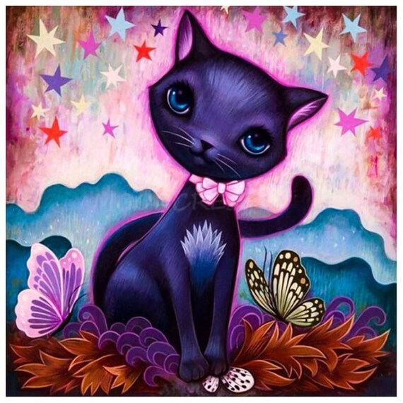 5D DIY Full Drill Diamond Painting Animals Cat Cross Stitch Mosaic Kits Decor