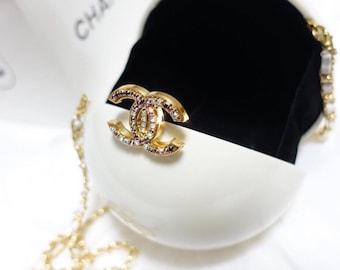220e927b2ad8 Chanel vip Crystal cc white pearl clutch bag- Limited Edition