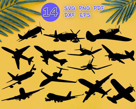 Planes Svg Airplane Svg Svg Files For Cricut Plane Clipart Etsy