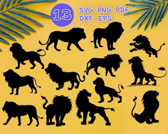 Lion Svg Lion Cut File Lion Silhouette Lion Head Svg Etsy