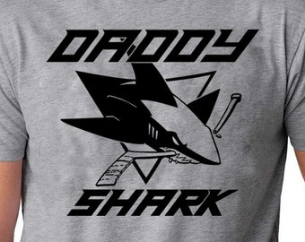 480db70f Daddy Shark doo doo doo Father's Day Gift T-Shirt Great Family shirt for a  great shark dad Hockey Dad Shirt Hockey shirt fathers Shirt gift