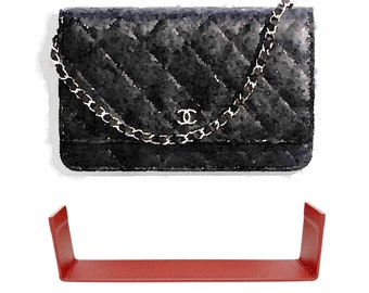 Bag Insert Base / Side Protector Saver Shaper designed for C H A N E L Wallet On Chain (woc) (Bag NOT Included)