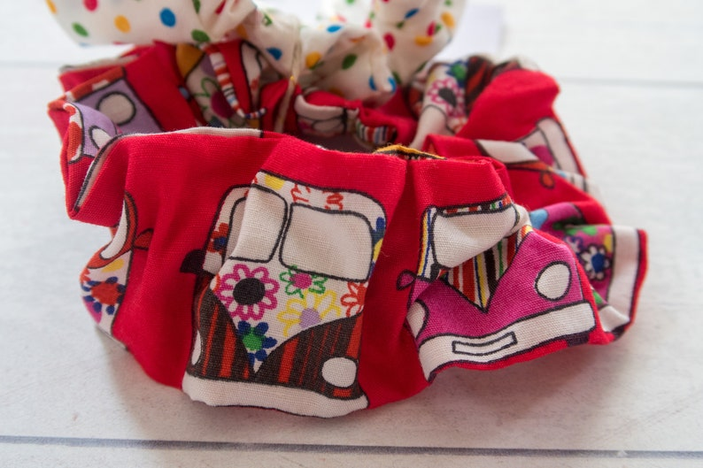 Gift For Daughter Boho 90/'s Fashion Nautical and Camper Van Print Scrunchie Pack Wife Girlfriend