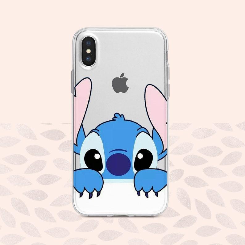 coque iphone xr silicone disney stitch