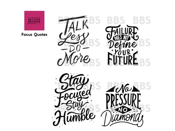 Motivation Stay Focused No Pressure No Diamond Failure Shopping Quotes  Queen Retail Therapy Planner Journal Deco Stickers ECLP