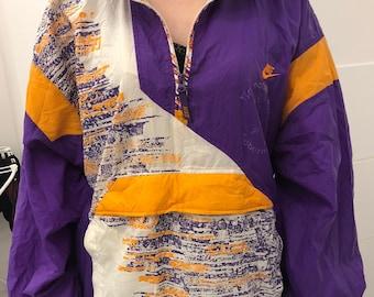 3138d7f6dd27 Neon Colors Nike Windbreaker Jacket Vintage 90s Tennis Purple Agassi  Sampras - Size Men Xl