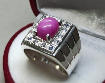 Christmas Day GiftCertified Fire Opal  5.50 Carat 925 Sterling Silver Handmade Ring For Men And Woman