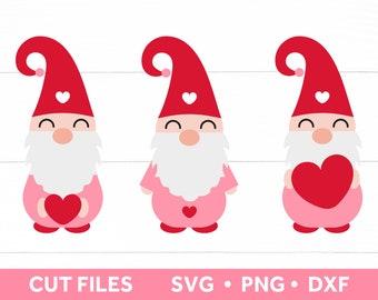 Gnome SVG files for Cricut, Valentines Day Svg Bundle, Valentine Svg DXF PNG, Cut Files Instant Digital Download, Valentine Shirt Design