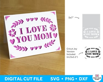 Happy Mothers Day Card SVG for Cricut and Silhouette, Mom Greeting Card SVG, Mothers Day Greeting Card Cricut