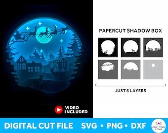 Christmas Shadow Box SVG, Light Box SVG Christmas SVG for Cricut and Silhouette