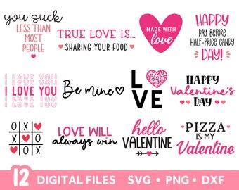 Valentines Day SVG files for Cricut, Valentine SVG Bundle, DXF Png Instant Digital Download