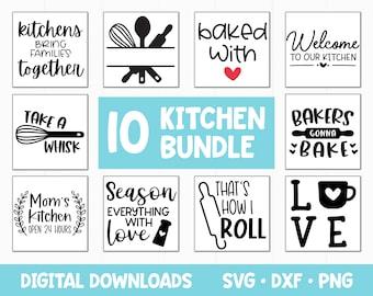 Kitchen SVG files for Cricut, Farmhouse Svg Bundle, Instant Digital Download, Kitchen Svg Cut Files Frame Clip Art Decor
