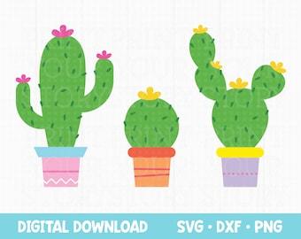 Cactus SVG files for Cricut, Cactus SVG Bundle Cut Files, Plant SVG for Cricut Silhouette Cutting Machine Files, Cactus Clip Art
