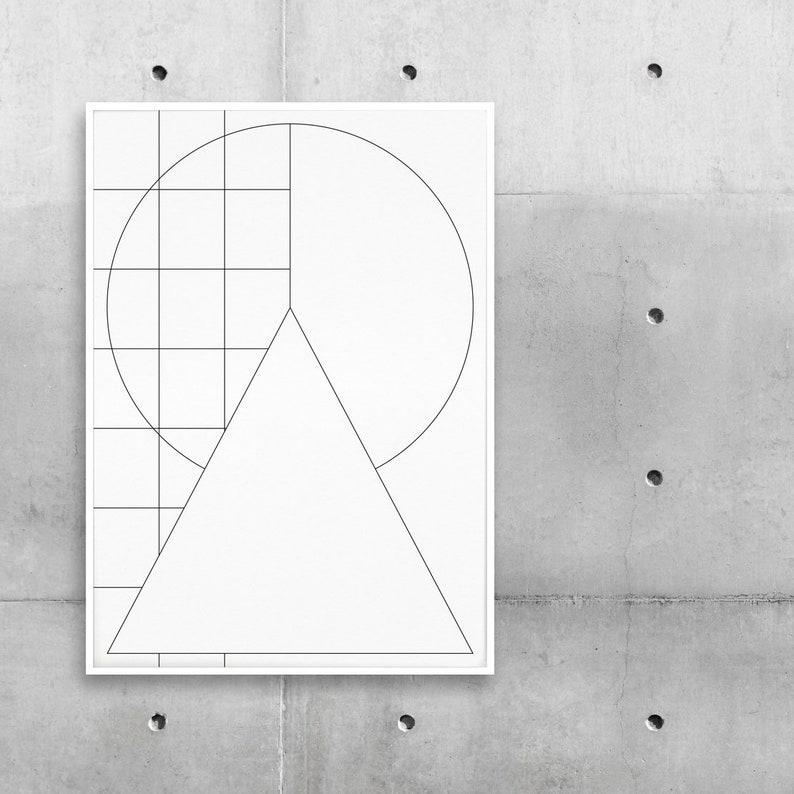 Poster Geometric Left image 0