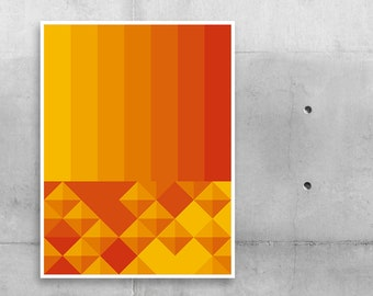 "Poster ""Shades Orange"""