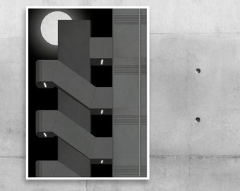 """Poster """"Staircase Night"""""""