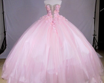 c9e38e416a388 Quinceanera Ball Gown/Prom/Sweet Sixteen/Pink/