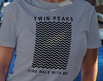 edd2febe Twin Peaks Shirt Fire Walk with Me Shirt Movie Shirt David Lynch Dale  Cooper Shirt Laura Palmer Tshirt Design Gift for Friend