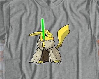 0cf944f0 Pokemon Shirt Yoda Shirt Yodachu Shirt Cartoon Shirt Anime Shirt Pikachu Shirt  Funny Shirt Star Wars Tshirt Design Gift for Friend