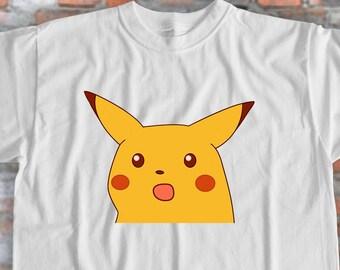 3b893c58a Pokemon Shirt Surprised Pikachu Shirt Pikachu Shirt Cartoon Shirt Anime  Shirt Pikachu Shirt Funny Shirt Meme Tshirt Design Gift for Friend
