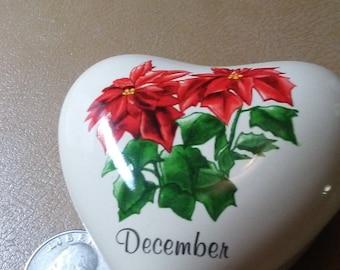 Russ Barrie Birds Porcelain Trinket Box Four Seasons