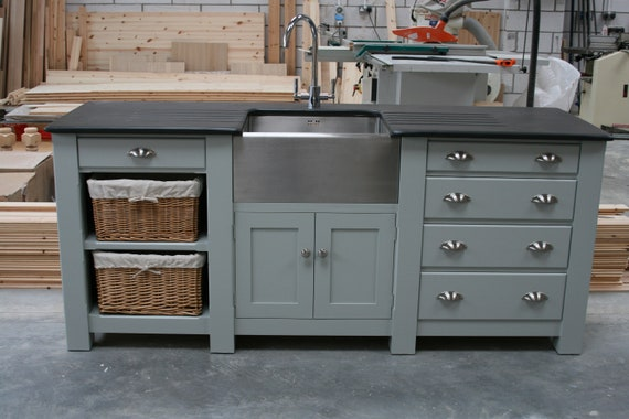 Freestanding Kitchen Sink Cupboard Etsy