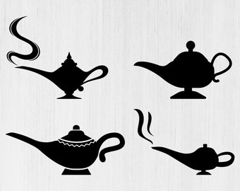 Magic Lamp Svg Etsy