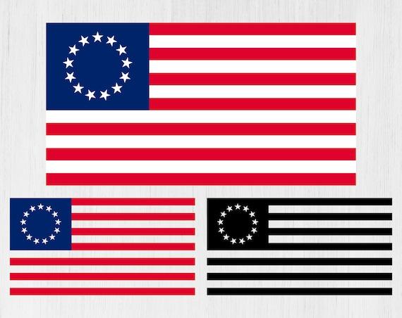 50 Pack Betsy Ross Historic Flag Sticker