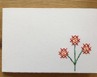 """Card motif """"Bouquet of Flowers"""" (various. Colors)"""