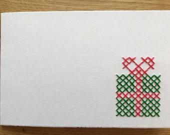 "Card motif ""Gift"" (various. Colors)"
