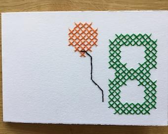 "Card motif ""8th birthday"" (versch. colours)"