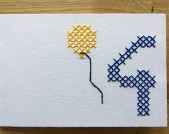 "Card motif ""4th birthday"" (various. Colors)"