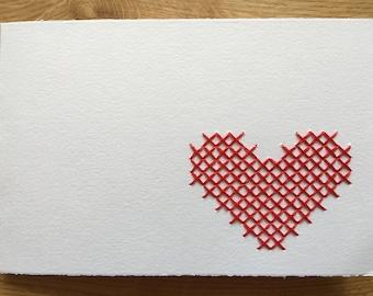 """Card motif """"Heart"""" (versch. colours)"""