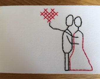 "Card motif ""Wedding couple"""