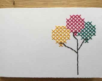 """Card motif """"Balloons"""" (various. Colors)"""
