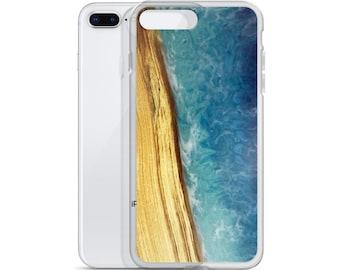 iPhone Case: Ash Wood & Resin Ocean Image