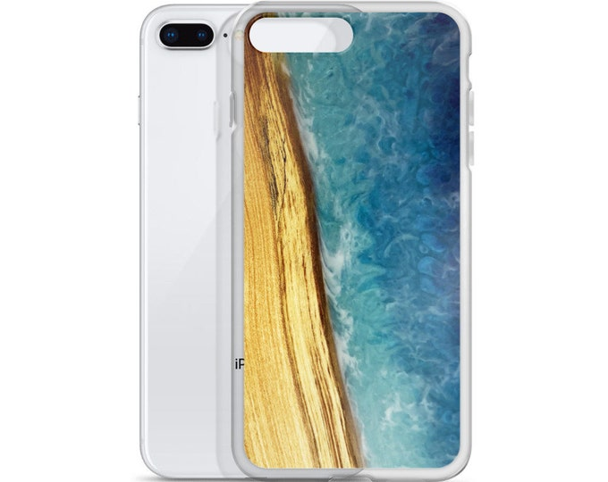 iPhone Case: Ash Wood & Resin Ocean Image