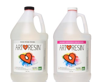 ArtResin Epoxy Resin 2 gallon kit, 1 gallon kit, or 32 oz Kit