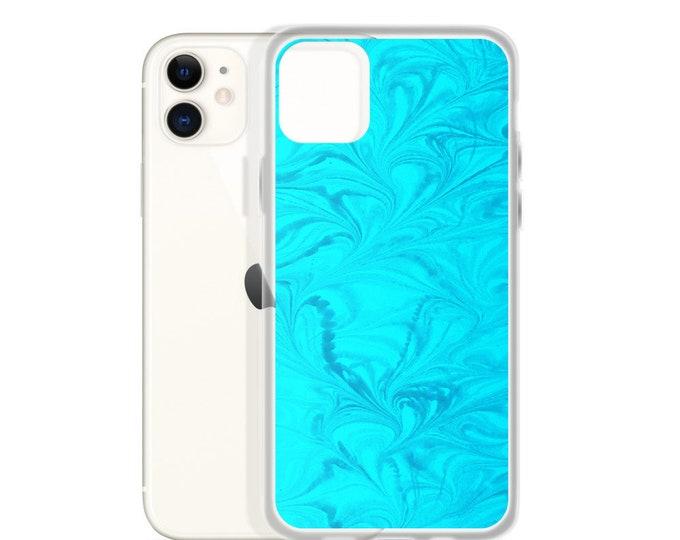 iPhone Case: Turquoise Resin Swirl Image