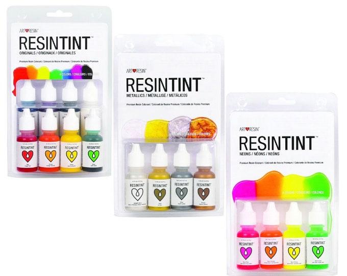 ResinTint Liquid Color Pigments - Basic Colors, Metallics, or Neons