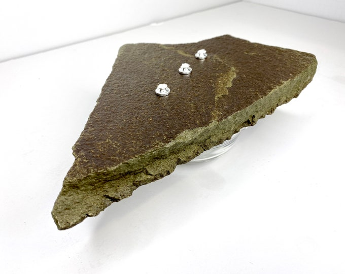 Zen Stone Candle - Glacier Green Stone & Glass (Medium)