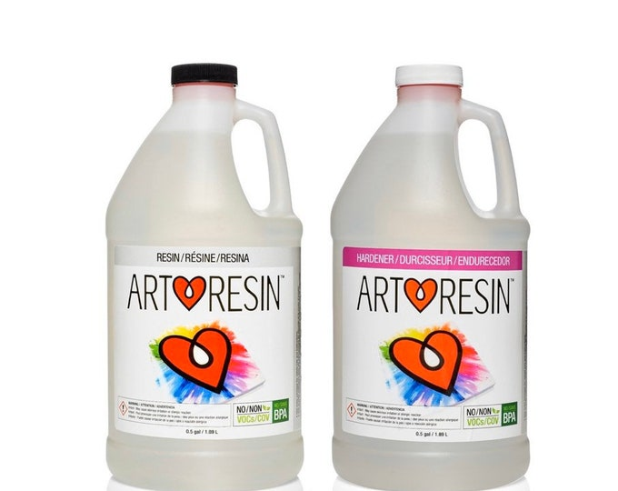 ArtResin Epoxy Resin 1 Gallon Kit - FDA Certified Food Safe, BPA Free, Non-Yellowing