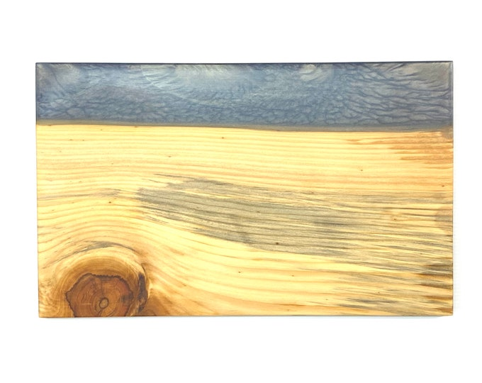 River Serving Board - Ponderosa Pine Wood & Purple Haze (medium)