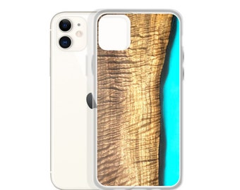iPhone Case: Curly Walnut & Resin Image