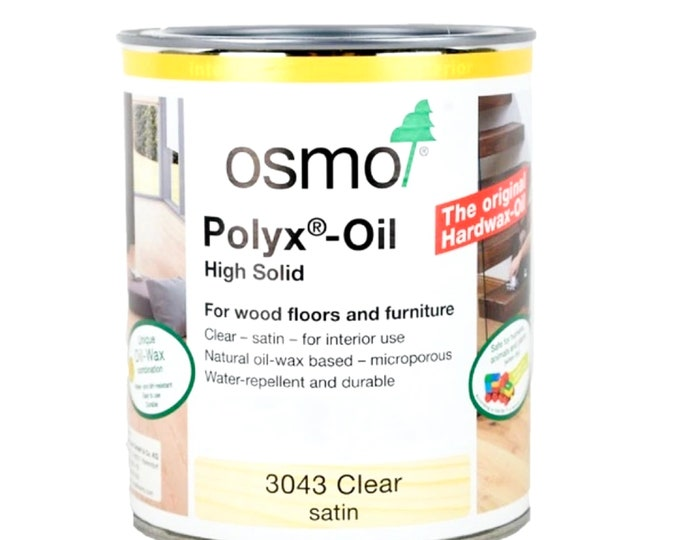OSMO Polyx-Oil Wood & Resin Finish - 3043 (Clear Satin), 3011 (Clear Gloss), or 3031 (Clear Matte)
